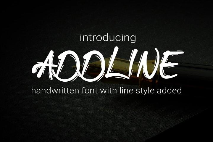 Addline - Handwritten Bold Font