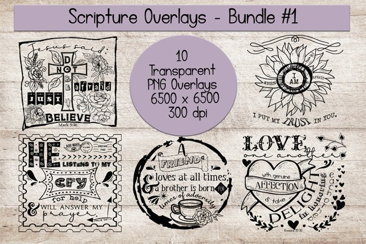 Scripture Overlays Bundle #1