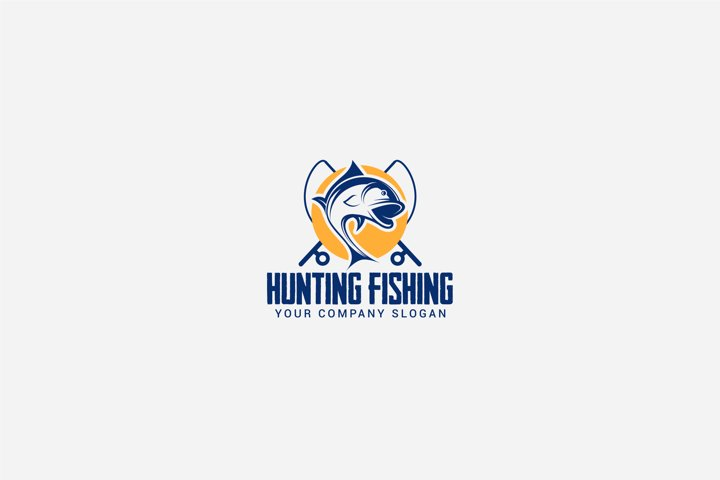 hunting fishing logo