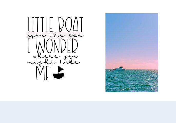 Sailboat - A Fun Handwritten Font - Free Font of The Week Design3