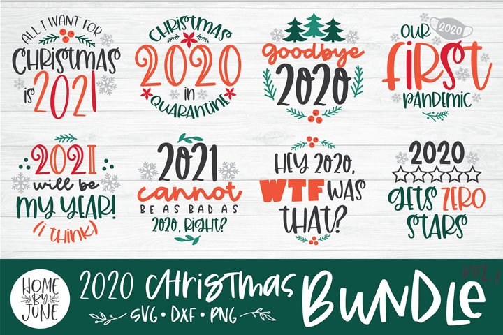 Funny 2020 Quote Bundle - Christmas SVG DXF PNG