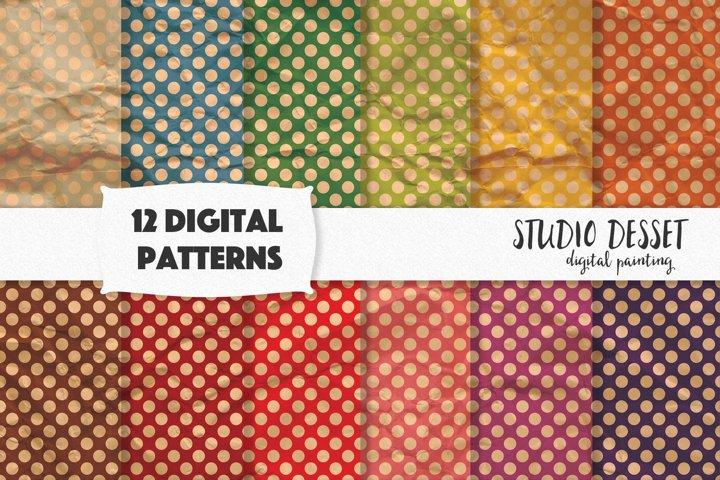 Polka Dot Patterns, Grunge Textures