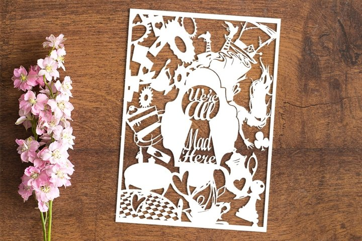 Falling Into Wonderland - Paper Cutting Template