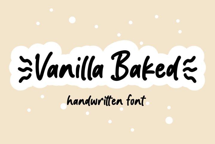 Vanilla Baked - Handwritten font