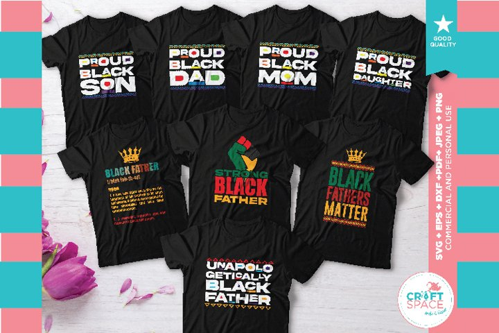 Black Fathers Matter Bundle, SVG, EPS, PNG and More