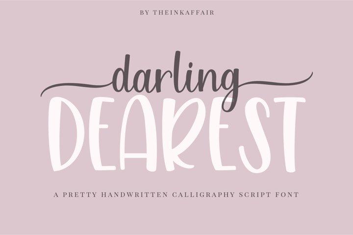 Darling dearest, a sweet calligraphy font