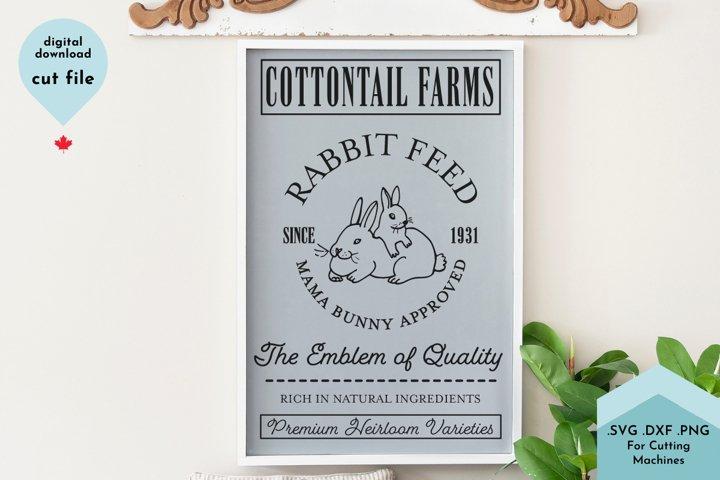 Easter Sign, Spring Decor, Farmhouse, Rabbit Feed example
