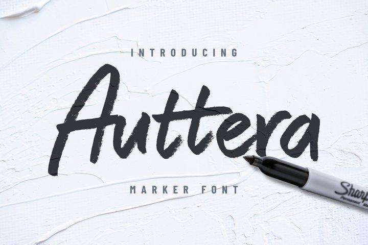 Auttera Marker/Brush Font