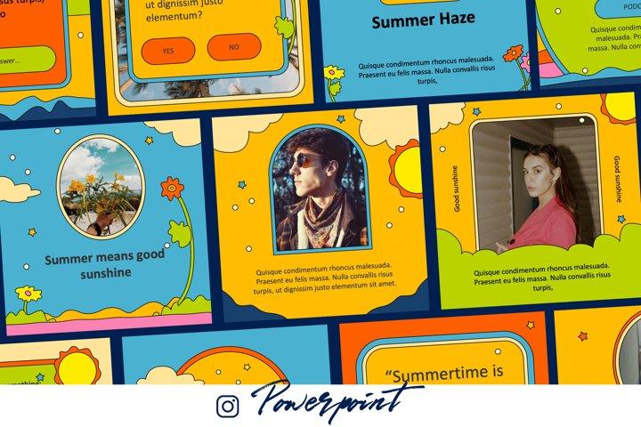 70s Style Instagram Kit Powerpoint