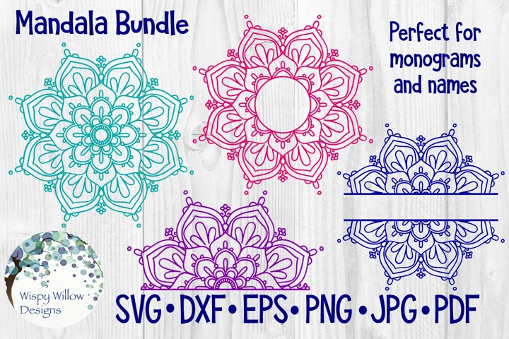 Download Mandala Bundle Svg Bundle Monogram Mandala Half Mandala Free Design Of The Week Design Bundles