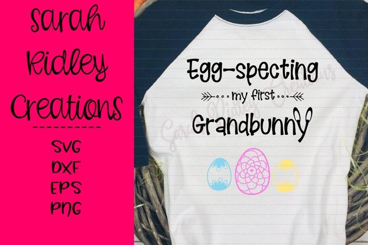 Eggspecting my first Grandbunny, Easter SVG, Grandparent SVG