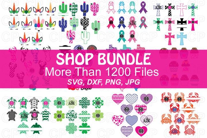 Monogram Frame Bundle SVG, Monogram Bundle SVG, DXF,PNG,JPG