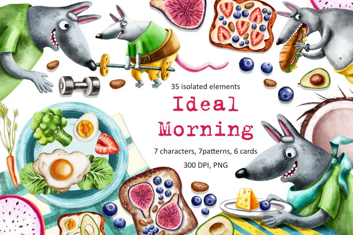 Ideal Morning - Clip Art Set