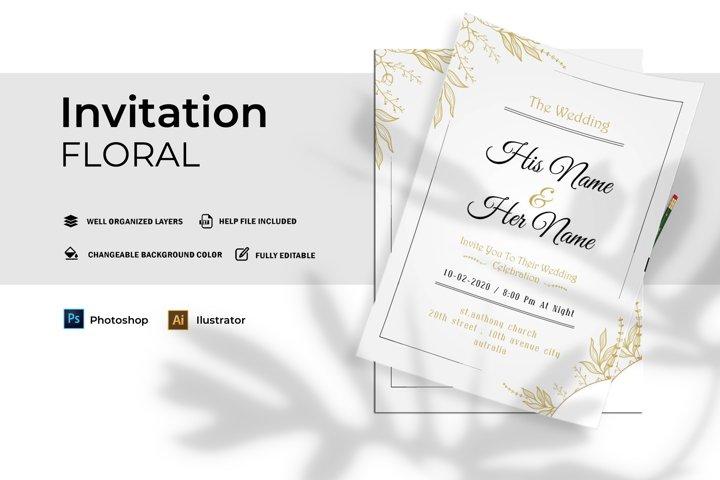Floral Wedding | Invitation