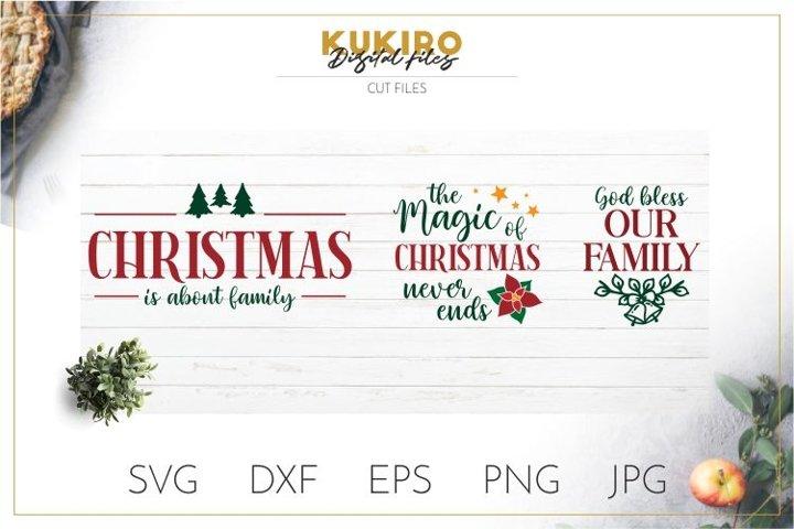 Farmhouse Christmas Signs SVG - Christmas Family