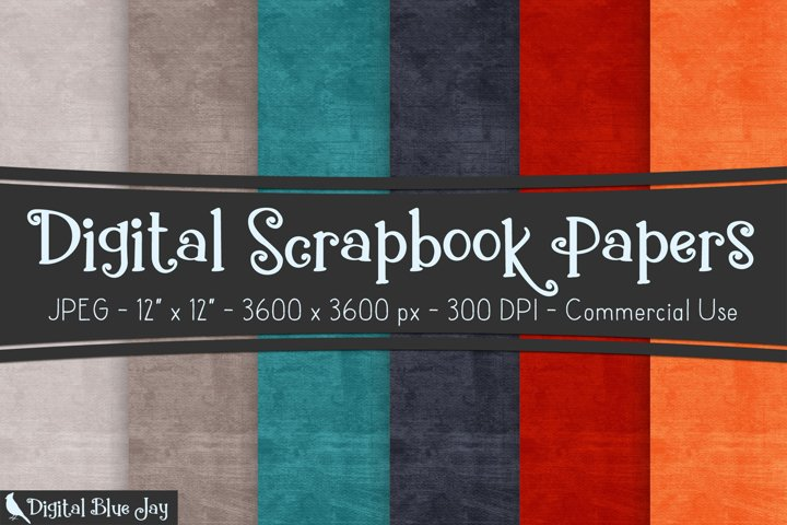 Digital Scrapbook Paper Textured Backgrounds