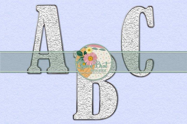 Freedom Alphabet White Glitter