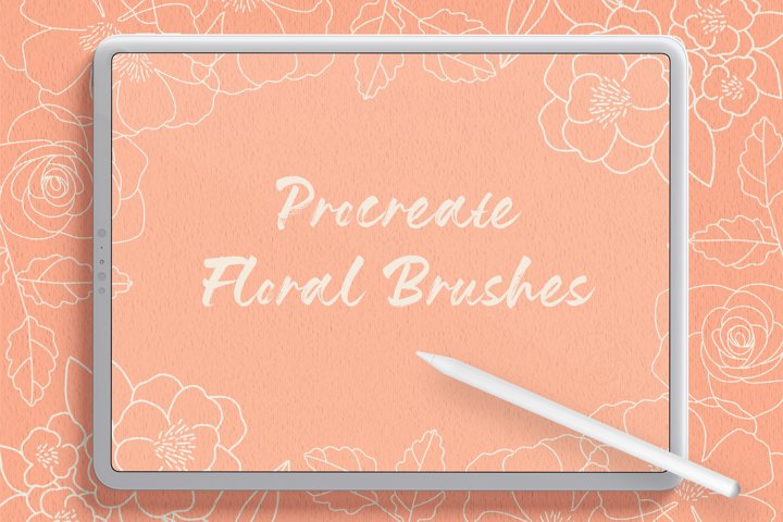 Flower Procreate Flow And Stamp Brushes - Hand Drawn Floral