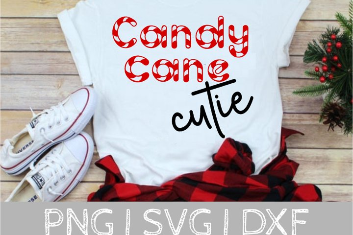 Candy Cane Cutie Christmas SVG Cut File