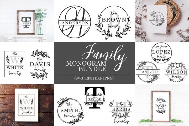 BIG Family Monogram Bundle   10 designs included