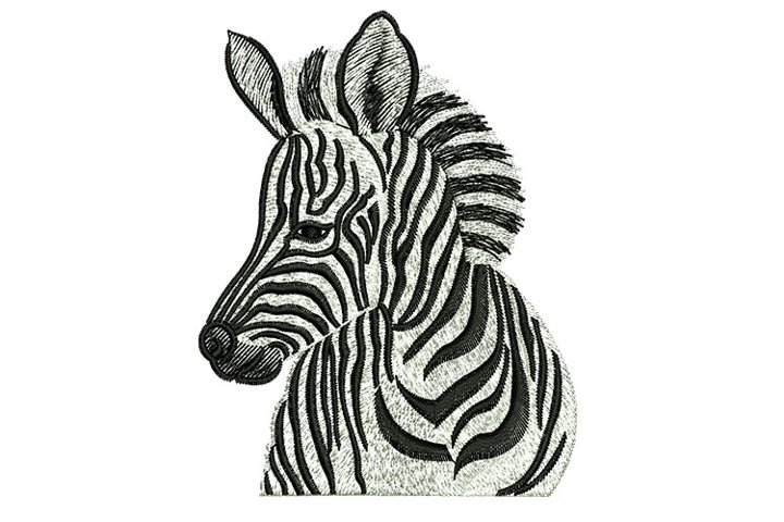 Zebra machine embroidery designs