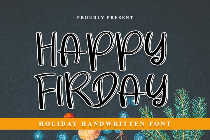 Happy Friday - Modern Handwritten Font