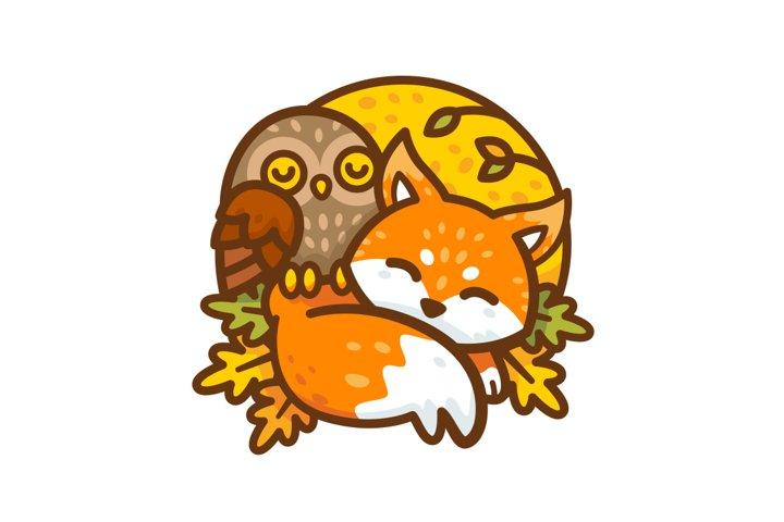 Fox & Owl Cute Animal Mascots