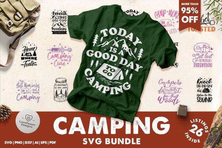 Camping SVG Bundle | Camping Bucket Bundle | Adventure SVG