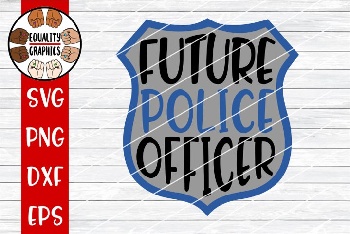 Future Police Officer Badge SVG | DXF | PNG