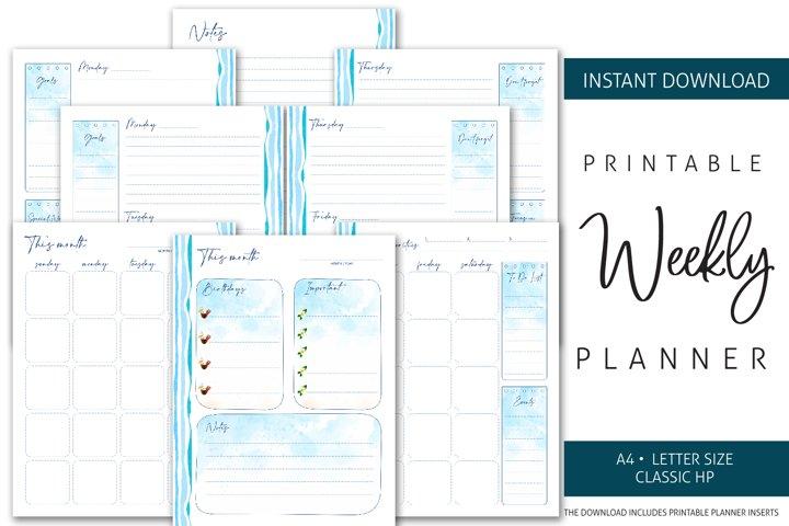 Printable Weekly Planner Insert