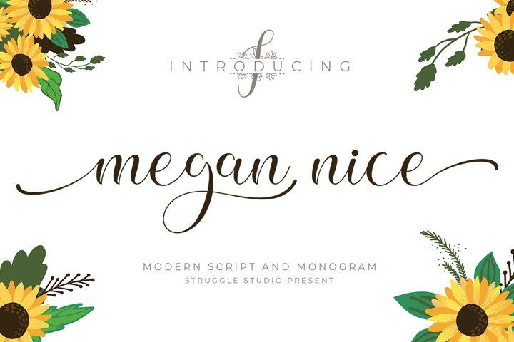 Megan Nice - Modern Script and Monogram