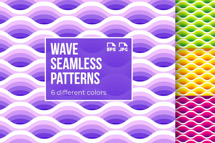 6 wave seamless patterns