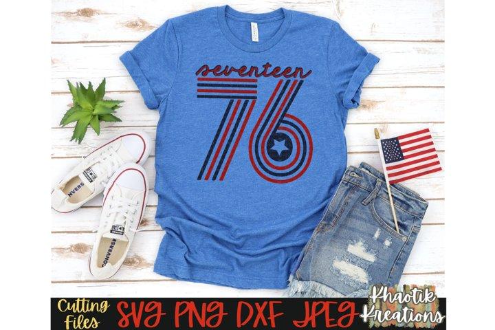 1776 Svg, America Svg, 4th of July Svg, USA Svg