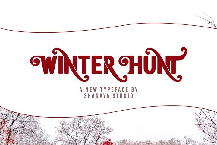 Winter Hunt Beauty Typeface