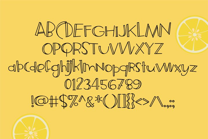 ZP Frozen Lemonade - Free Font of The Week Design0