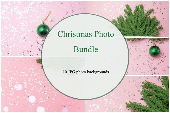 Christmas photo bundle, 10 JPG backgrounds