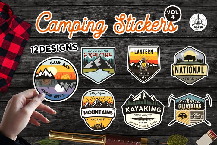 Sticker Bundle PNG! Printable Camp Stickers For Cricut SVG