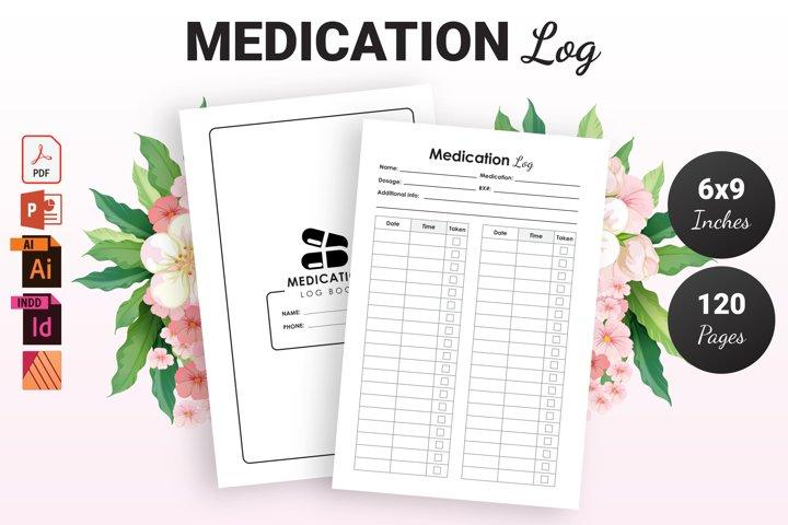 Medication Log Book - KDP Interior