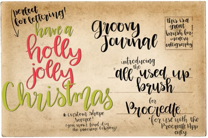 Procreate Hand Lettering Brush