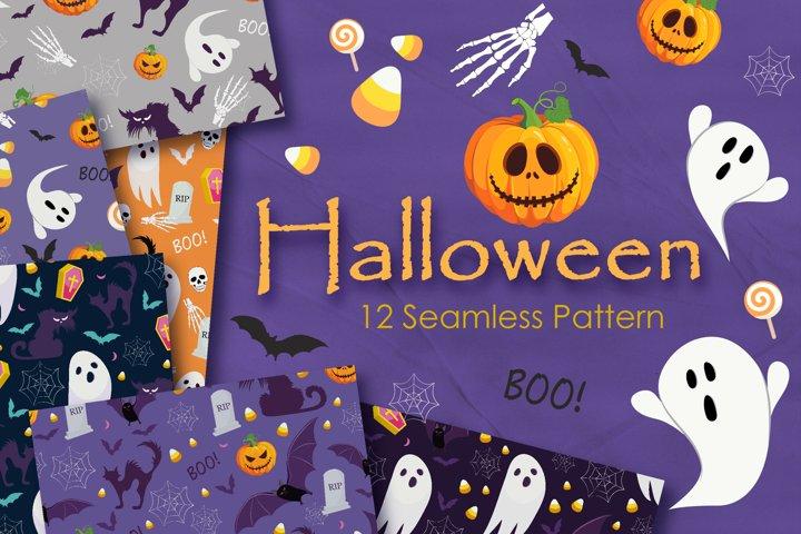 Halloween nightmare Seamless Pattern