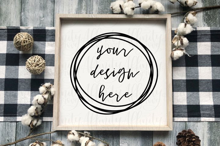 Wood Sign Mock up - Cute Rustic Farmhouse Mockup!