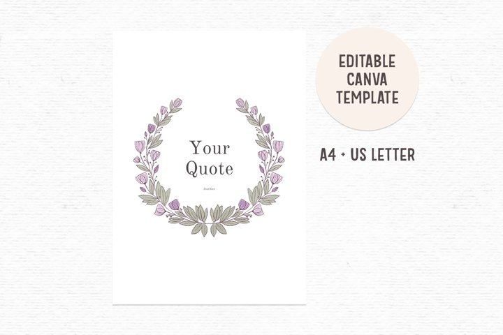 Editable quote template | Canva template