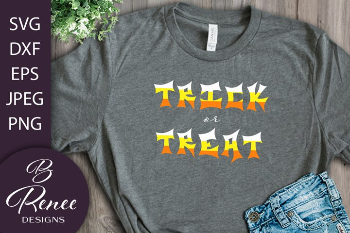 Candy Corn Style Treat or Treat SVG | Halloween SVG