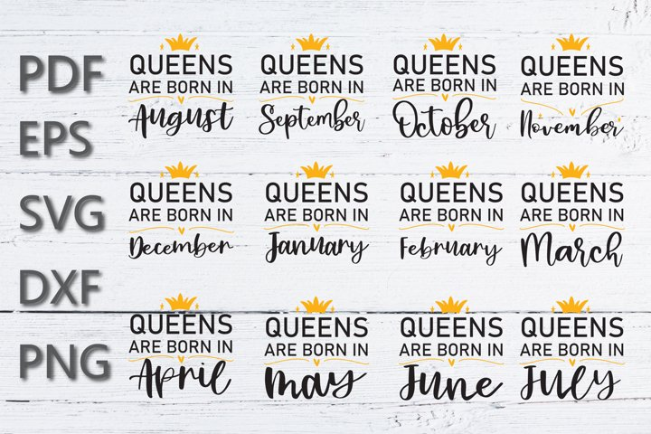 Queens are Born in SVG bundle