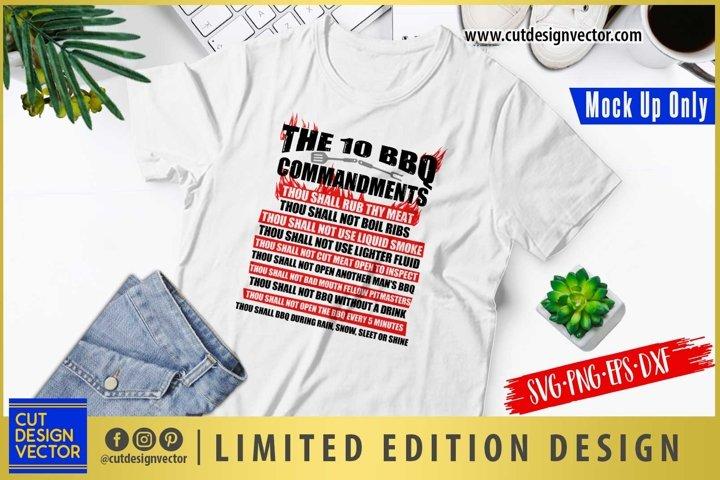 The 10 BBQ Commandments SVG