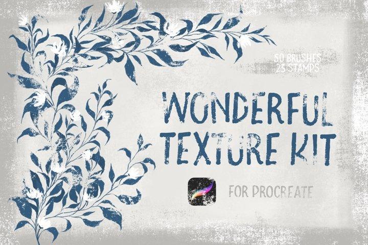 Wonderful Texture Kit for Procreate