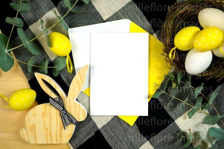 Easter Farmhouse Greeting Card Flatlay Mockup JPEG Photo