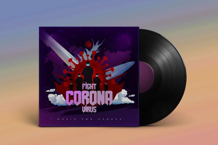 Fight Corona Music Album Cover Artwork Template