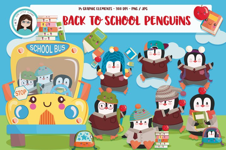 Back to school penguins