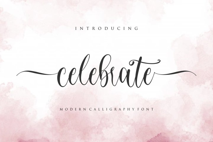 celebrate - moderen calligraphy font